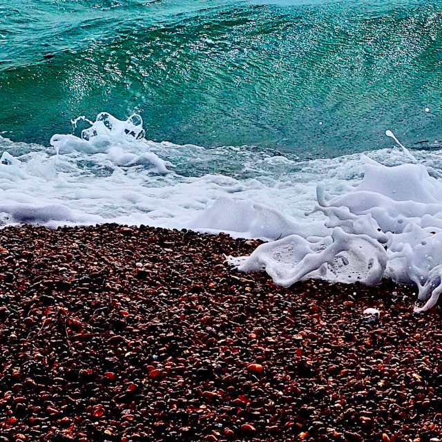 """Seashore Surf Curls"" stock image"