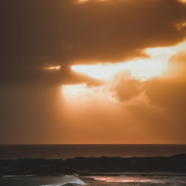 """Sunset glint"" stock image"