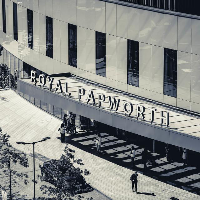 """""""Royal Papworth Hospital, Cambridge UK"""" stock image"""