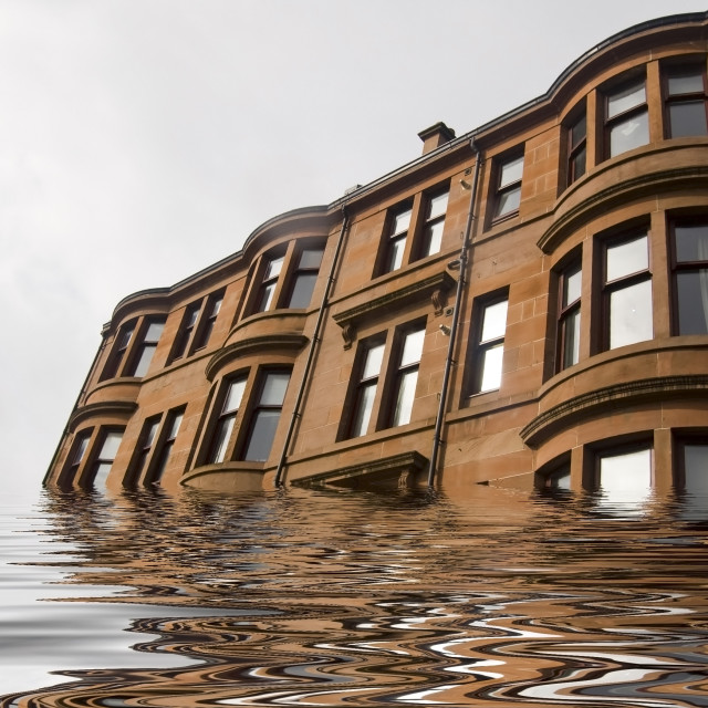 """""""Sinking Building"""" stock image"""