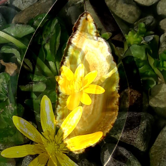 """Flower-pendant"" stock image"