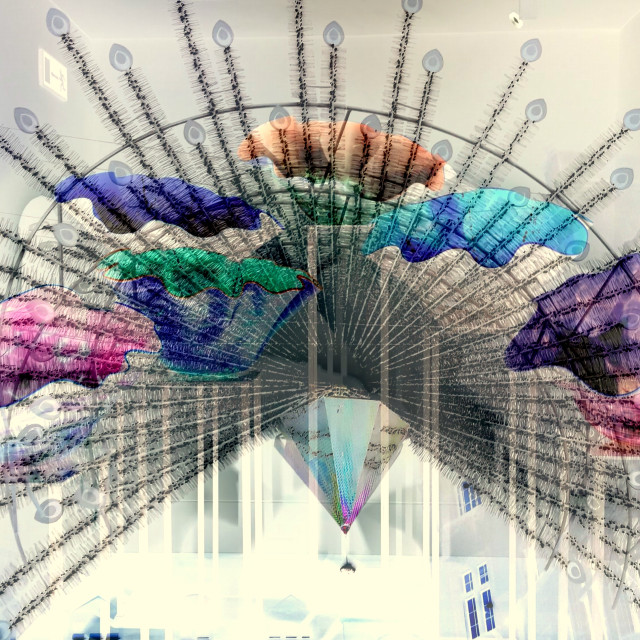 """""""Blown glass- peacock decoration (2)"""" stock image"""