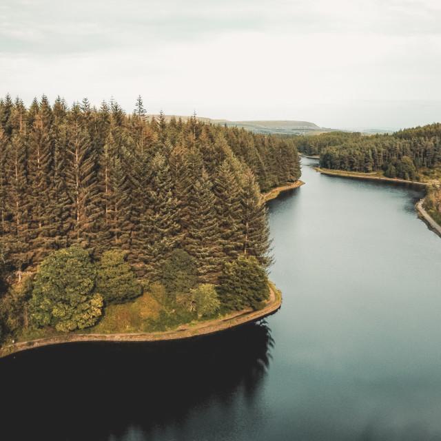 """Entwistle Reservoir"" stock image"