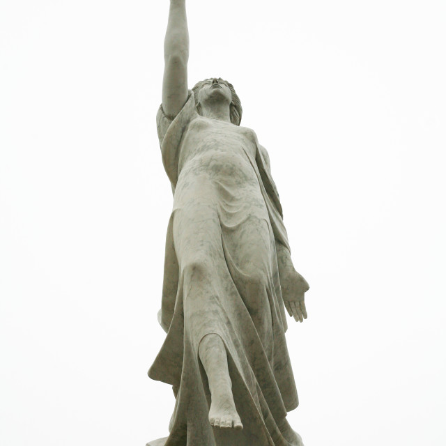 """""""Monument to the Immigrants"""" stock image"""