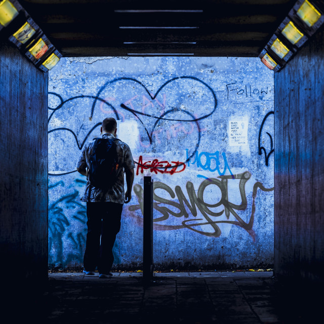 """Subway from East Road, Cambridge UK."" stock image"