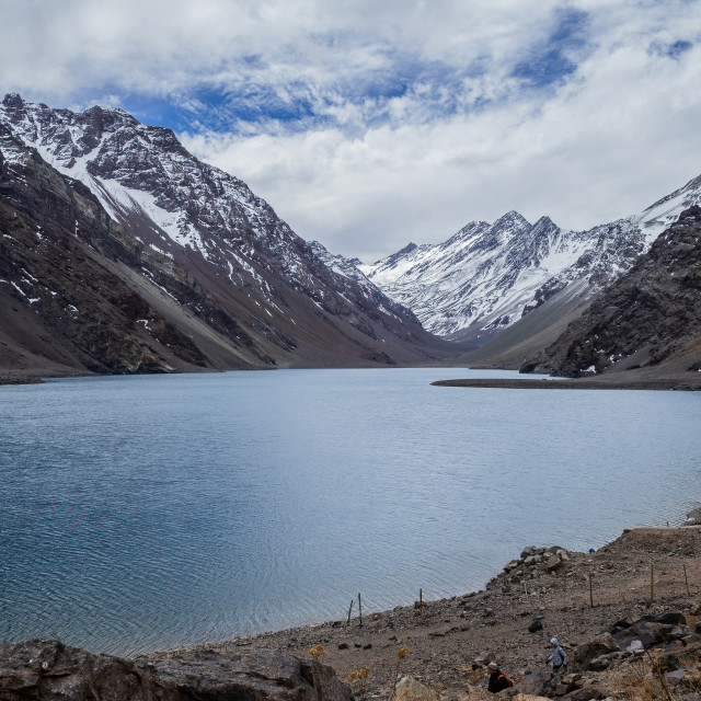 """The Lake, Portillo, Chile"" stock image"