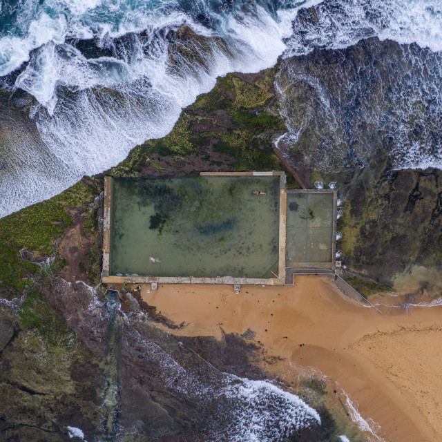 """Mona Vale Tidal Pool"" stock image"