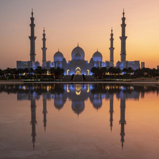 """Sheikh Zayed Mosque, Abu Dhabi"" stock image"