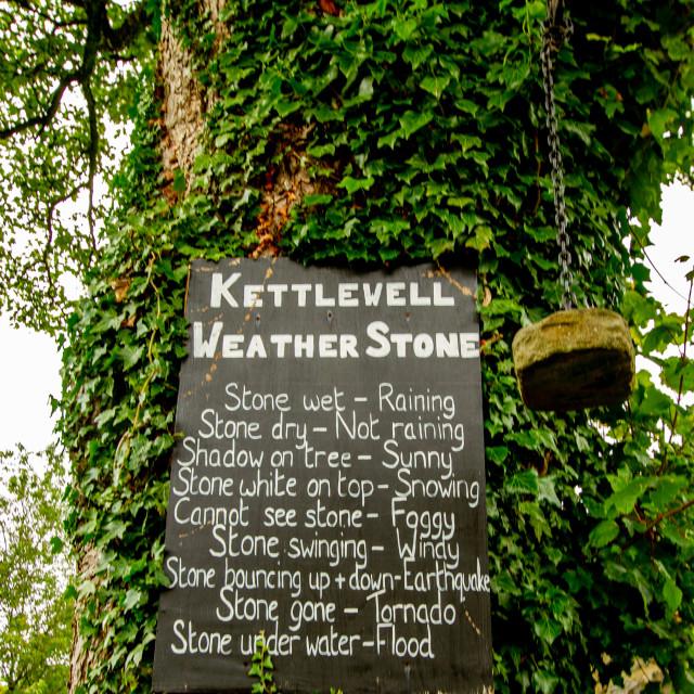 """""""Kettlewell Weather Stone."""" stock image"""