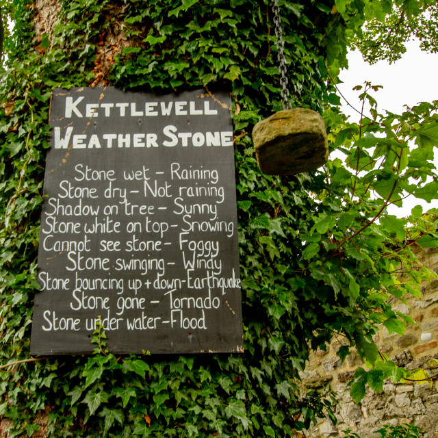 """Kettlewell Weather Stone."" stock image"