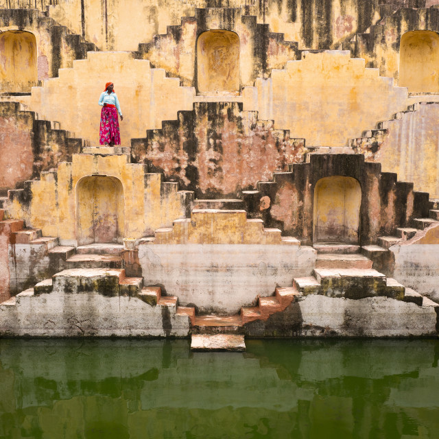 """""""Step Well"""" stock image"""