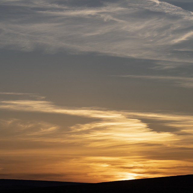 """""""Sunset over Wharefdale"""" stock image"""