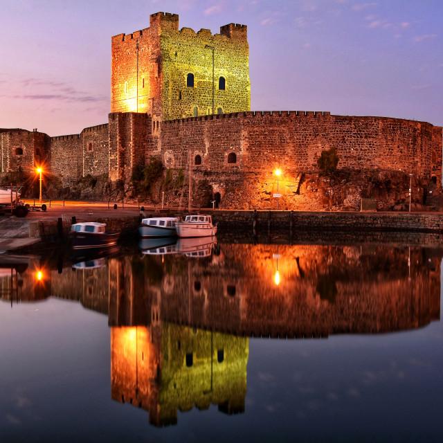 """Carrickfergus castle."" stock image"