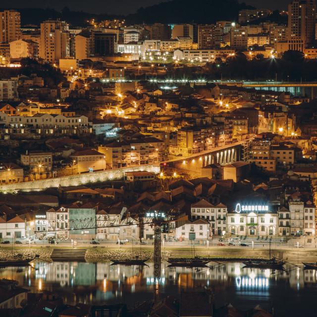 """""""A night in Porto"""" stock image"""