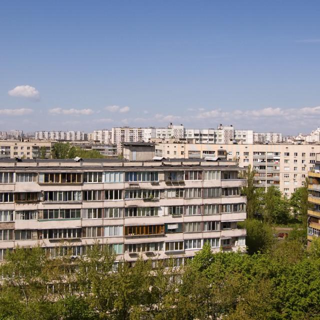 """Soviet Era Apartment Blocks"" stock image"