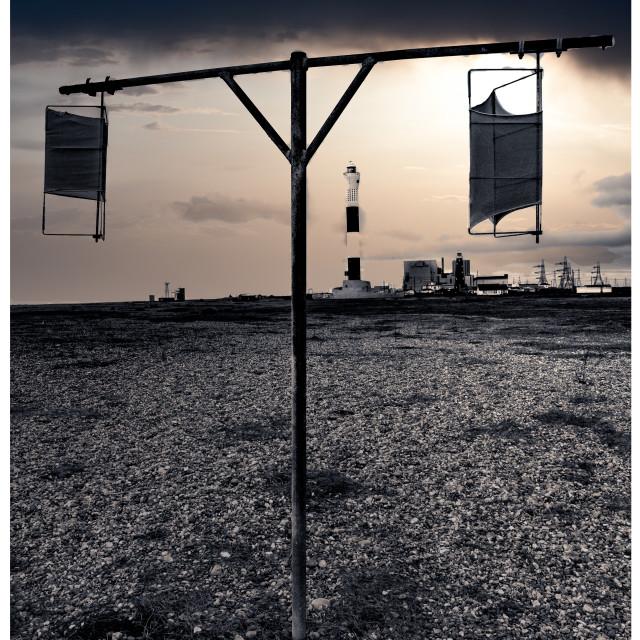"""Dungeness Beach Sunset"" stock image"