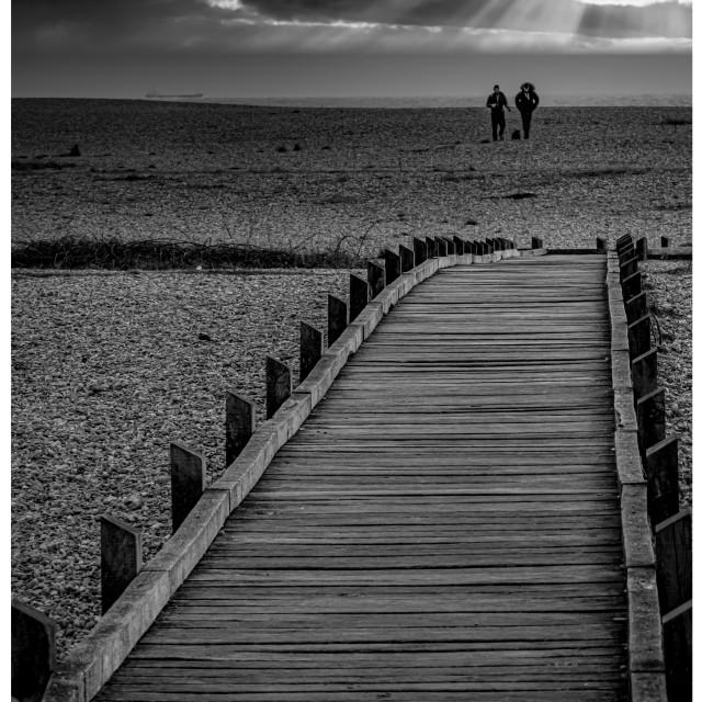 """Dungeness moody sky seaside"" stock image"