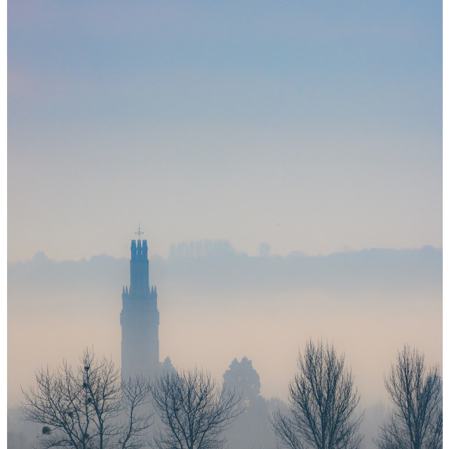 """Hadlow Tower Pastel"" stock image"