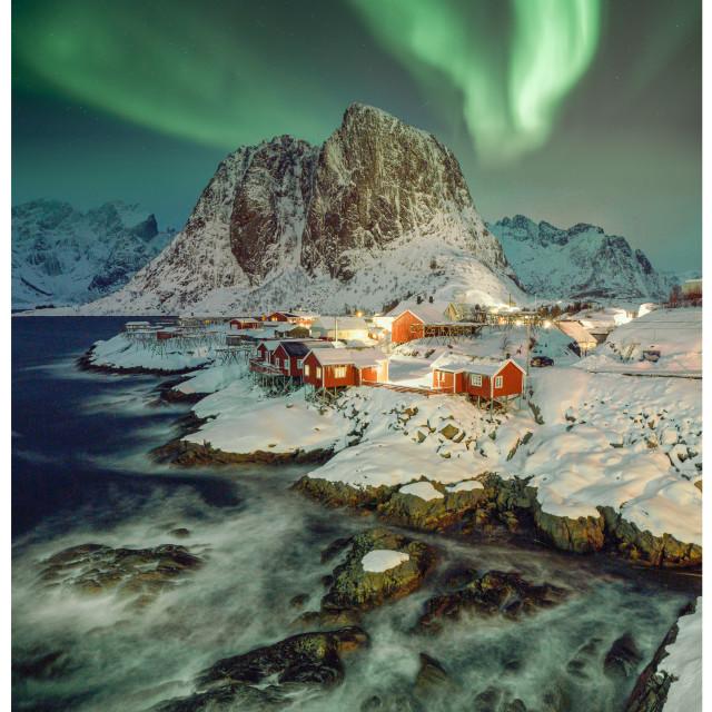 """""""Aurora Lofoten"""" stock image"""