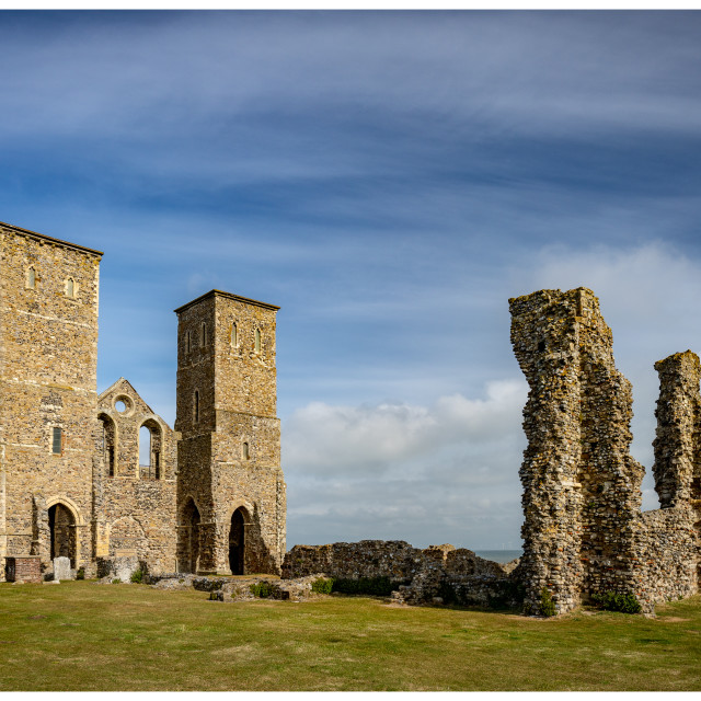 """""""Reculver On Sunny Day"""" stock image"""