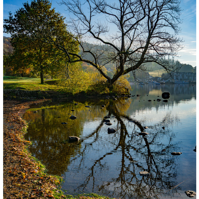 """""""Reflection in Windermere"""" stock image"""