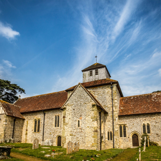 """Breamore church, Hampshire UK"" stock image"