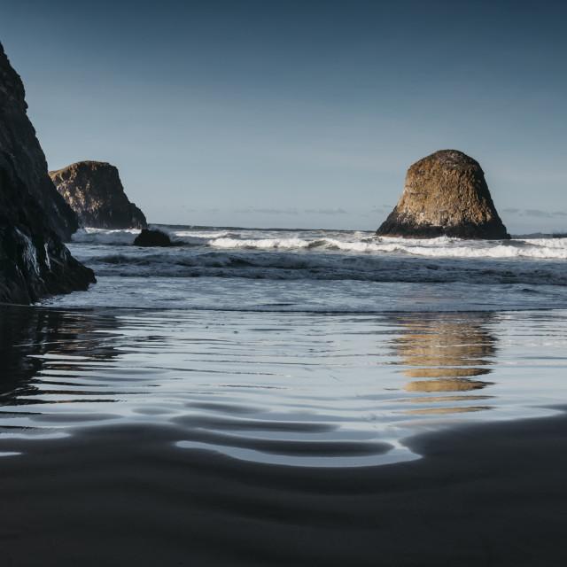 """Crescent Beach"" stock image"