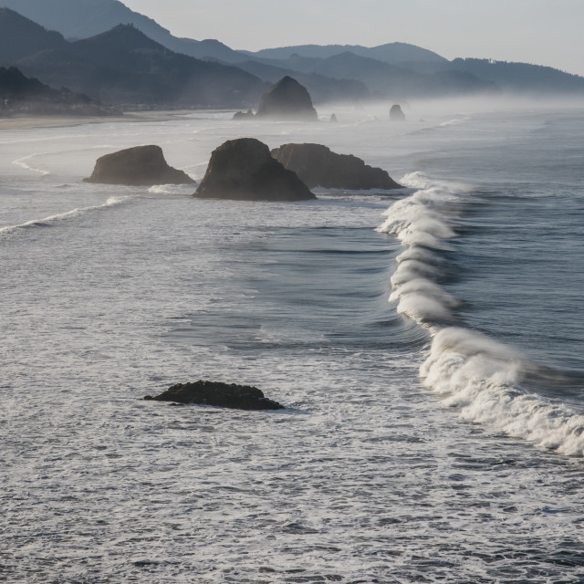 """""""Ecola State Park Viewpoint"""" stock image"""