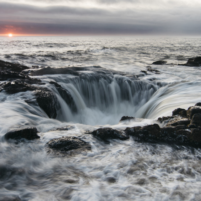 """""""Thor's Well"""" stock image"""