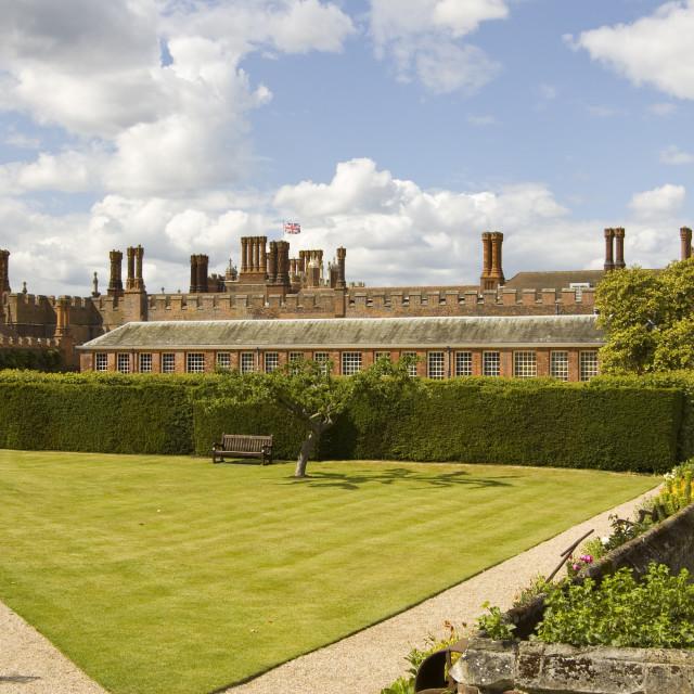 """Hampton Court Palace, London"" stock image"