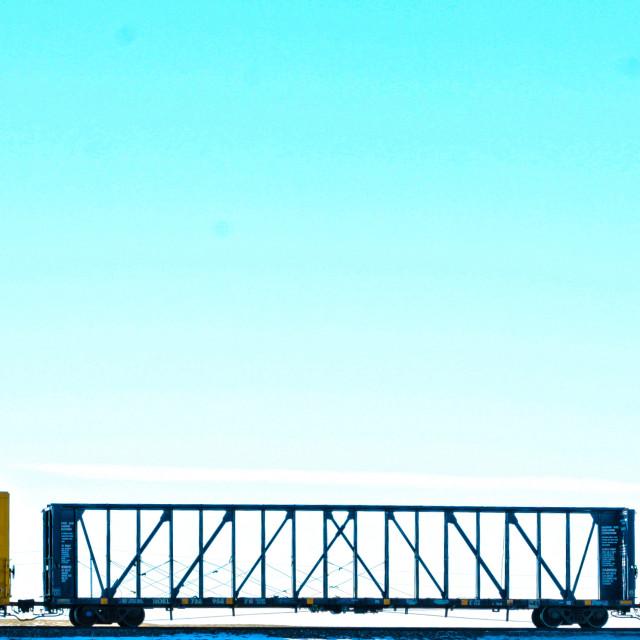 """Cargo Train"" stock image"