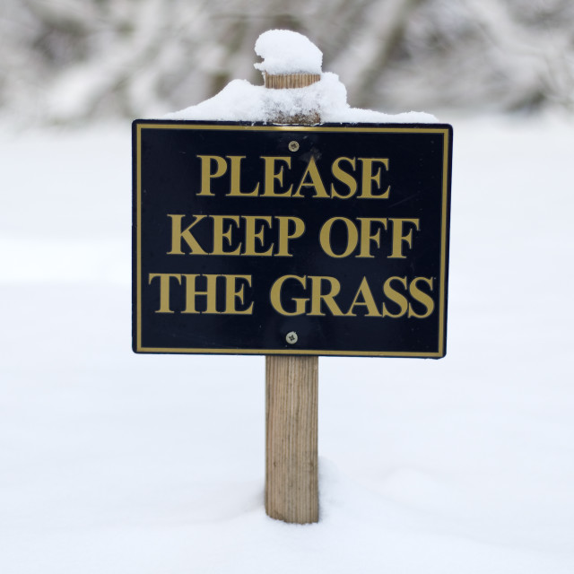 """Please Keep off the Grass"" stock image"