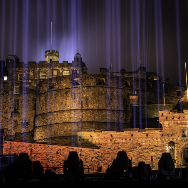 """My Light Shines On Edinburgh Castle"" stock image"