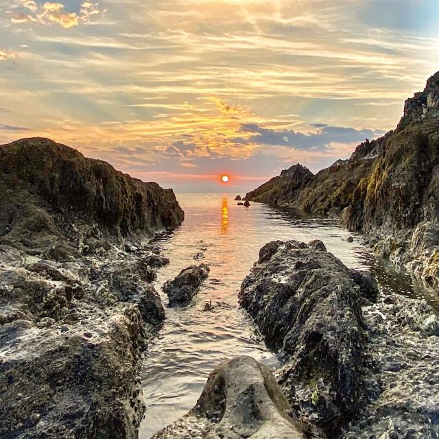 """Sunrise at Meva"" stock image"