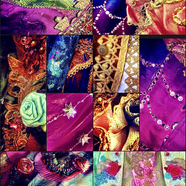 """""""Close Up Costume Collage"""" stock image"""