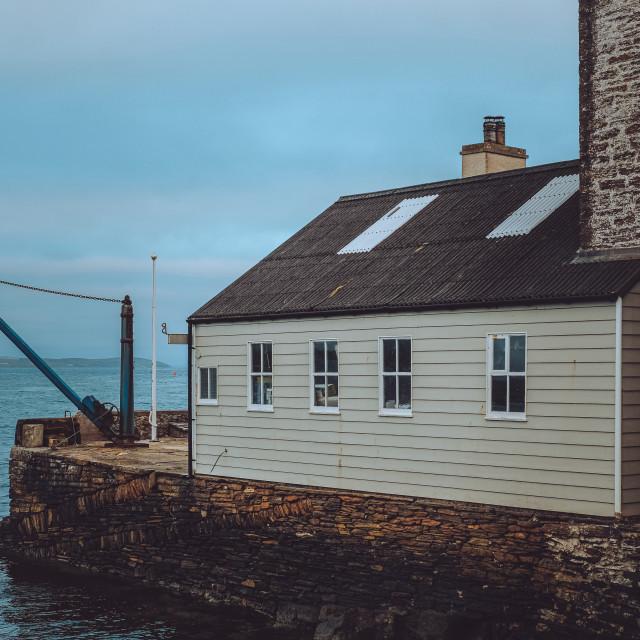 """Boat House in Stromness"" stock image"