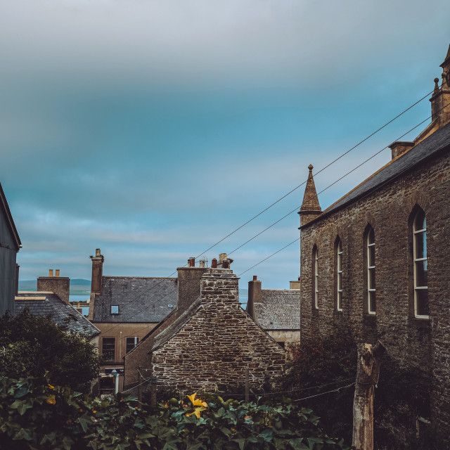 """""""Stromness rooftops"""" stock image"""