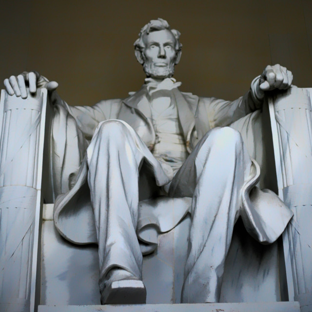 """""""The Lincoln Memorial"""" stock image"""