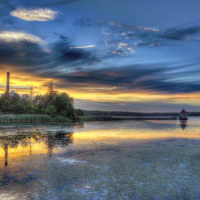"""waterworks sunset"" stock image"