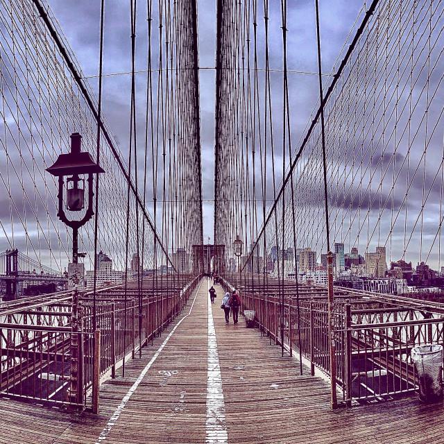 """Criss Crossing Brooklyn"" stock image"