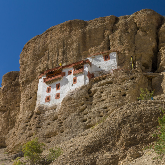 """Shergol Gompa - impressive monastery in Ladakh"" stock image"
