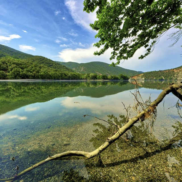 """The Haliacmon River, Greece"" stock image"