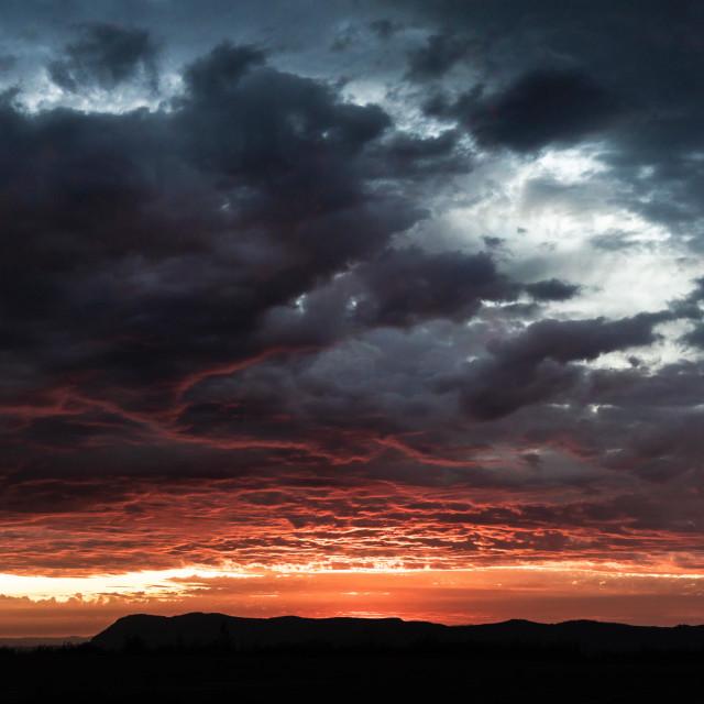 """""""Southern Washington Sunset"""" stock image"""