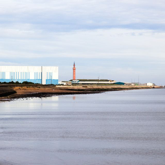 """""""Grimsby Dock Tower and Cold Store"""" stock image"""
