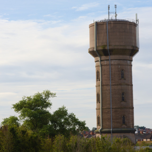 """Chapman's pond water tower in Cleethorpes"" stock image"