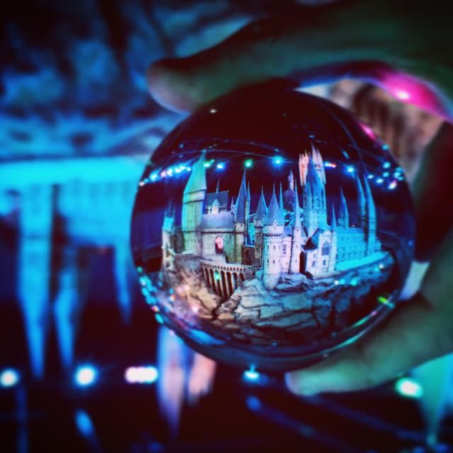 """Hogwarts Lens Ball Capture"" stock image"