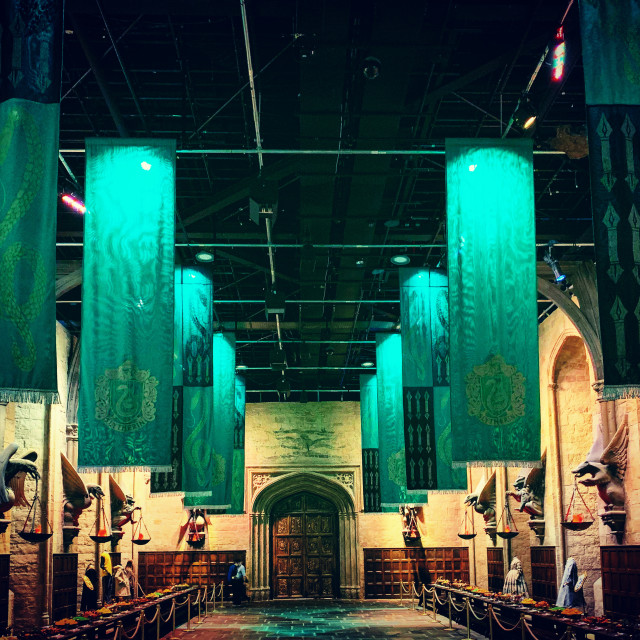 """""""Great Hall Slytherin Colours"""" stock image"""