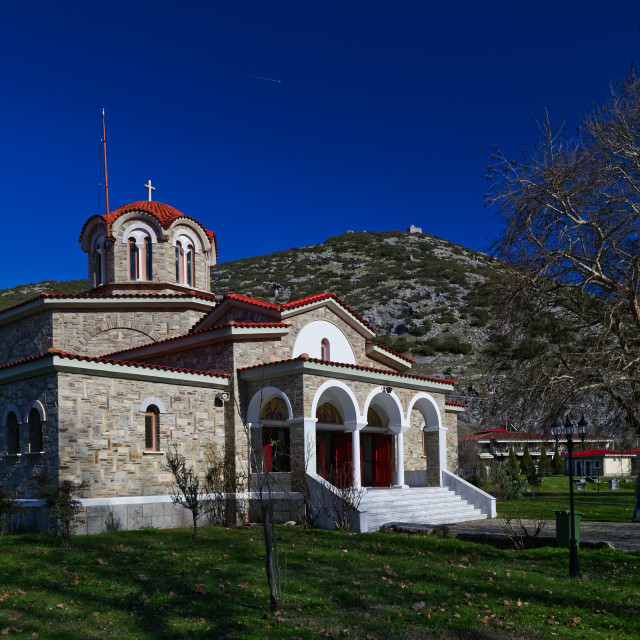 """Baptistery of St. Lydia, Krinides Greece"" stock image"
