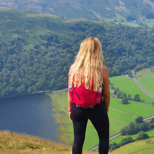 """""""Brothers Water from Hartsop Dodd"""" stock image"""