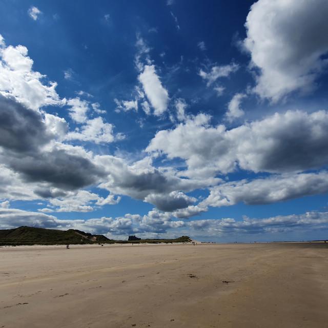 """""""Bamburgh Beach"""" stock image"""